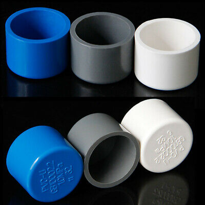 PVC End Cap Cover Water Supply Pipe Fittings Inner Dia 20-110mm Plug Connector • 5.12£