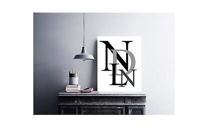 INITIALS FAMILY / COUPLES WALL ART Print A6 HOME DECOR TYPOGRAPHY SCANDI • 3.66£