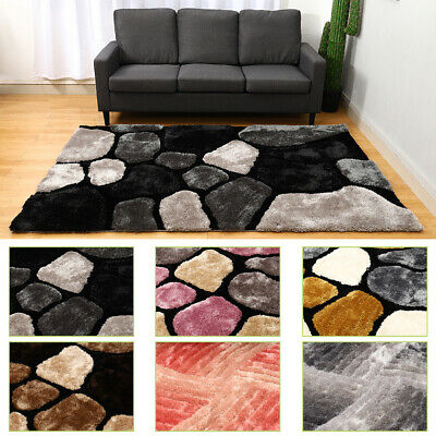 Non Slip Shaggy Area Rug Faux Fur Soft Living Room Bedroom Hallway Floor Mat Pad • 143.95£