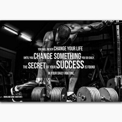 58486 Quotes Body Building GYM Muscle Exercise Wall Print POSTER UK • 19.95£