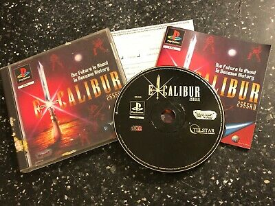 PLAYSTATION 1 PS1 PSone GAME EXCALIBUR 2555 A.D. +BOX INSTRUCTIONS COMPLETE PAL • 7.99£