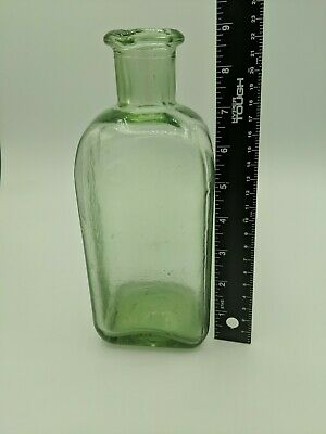 $40 • Buy Antique Mold Blown Green Seeded Glass Carafe/ Bottle