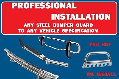 $75 • Buy  Professional Installation, Steel Front Rear Bumper Guard Protector, Only $75.00