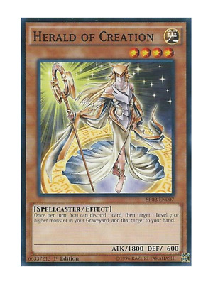 AU1 • Buy Herald Of Creation X 3 (Playset) Near Mint Condition YUGIOH Cards