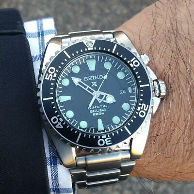 Seiko Prospex Date 200m Divers Kinetic Authentic Mens Watch Works • 527$