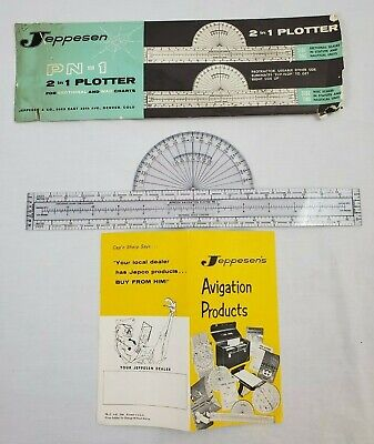 VINTAGE JEPPESEN PN-1  2 IN 1 PLOTTER FOR SECTIONAL AND WAC CHARTS Aviation  • 15.79$