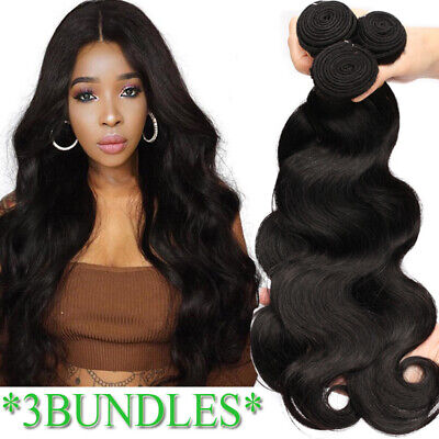 £151.47 • Buy Human Hair Bundles Brazilian Hair Extensions 100% Unprocessed Thick Weft 300G UK