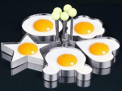 $11.99 • Buy Fried Egg Rings Mold Non Stick For Griddle Pan 5 Pcs Set