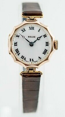 Rolco Women's 27.5 Mm 9 Carat Scalloped W&D Case. 1920s/30s • 550£