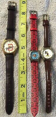 £14.34 • Buy Watch Lot 3 Pieces Mickey Mouse, Paul Frank And San Diego Padres Leather Bands