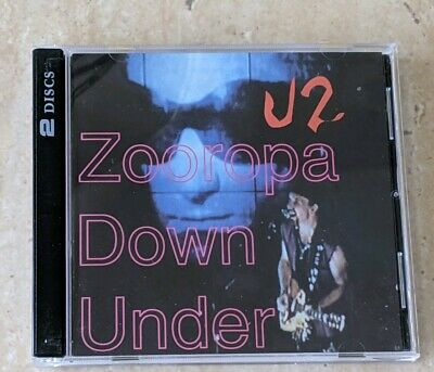 U2 Zooropa Down Under 2 Cd Rare Live Import + Free Shipping • 38$