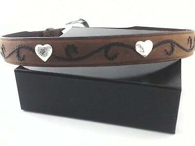 $26.95 • Buy TONY LAMA Ropin Hearts Belt Brown Leather Western USA Girls Youth New