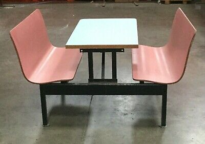 Restaurant Dining Table W/ 2 Connected Booth Bench Seats / 42  X 61  X 30 H • 165$
