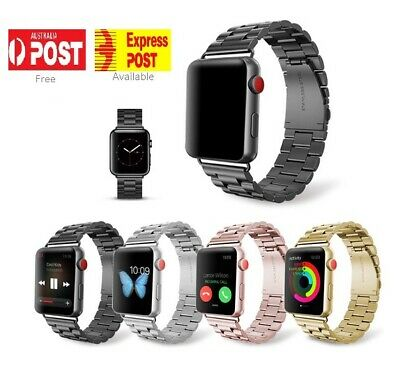 AU11.95 • Buy For Apple Watch IWatch Serie 5432 Stainless Steel Strap 38/42/40/44mm Watch Band