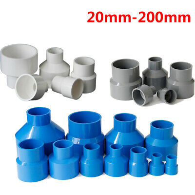 PVC Reducing Pipe Fitting Concentric Reducer Connector Socket Coupling 20-200mm • 13.35£
