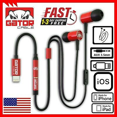 $ CDN15.62 • Buy Apple IPhone Lightning Connector Earphones Earbuds Red MIC Wired 7 8 X 11 XS XR