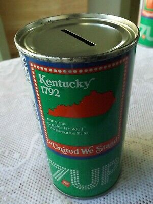 AU11.46 • Buy Vintage 7-up Kentucky Soda Can Bank  * Bicentennial 1976 Steel Can *