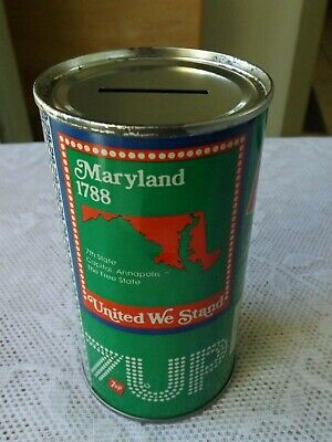AU11.46 • Buy Vintage 7-up Maryland Soda Can Bank  * Bicentennial 1976 Steel Can *