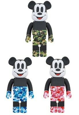 $3600 • Buy Bearbrick 1000% A Bathing Ape  Japan Bape Authentic Green Red Blue 3set