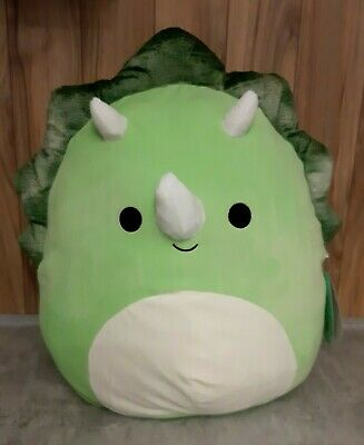 $ CDN39.90 • Buy Squishmallows Tristan The Triceratops Green Soft Plush Pillow Kellytoy 16  New