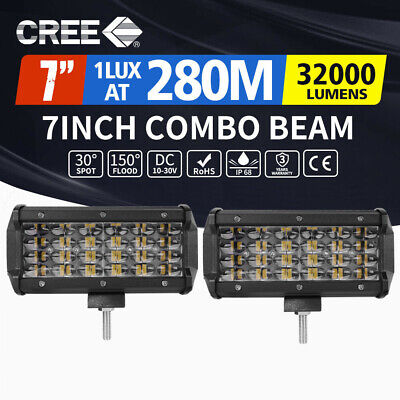 AU42.99 • Buy Pair 7inch CREE LED Work Light Bar Spot Flood Work Driving Lights OffRoad 4WD