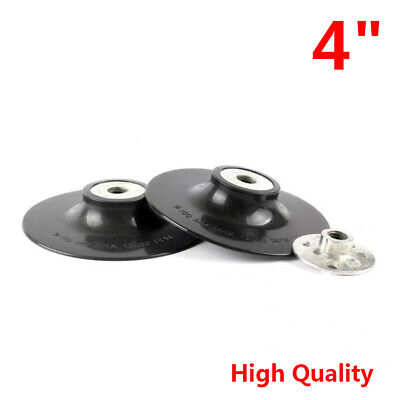 4  Rubber Sanding Backing Pad M10 100mm For Polisher Angle Grinder Black White • 10.69£