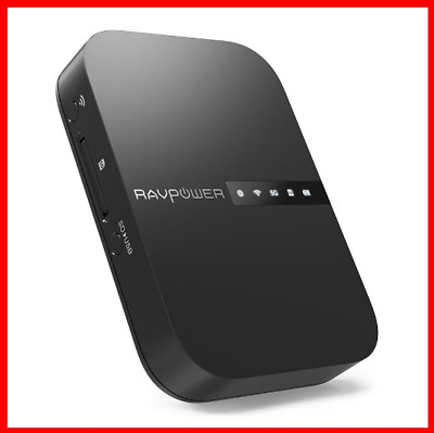 AU71.99 • Buy RAVPower FileHub Wireless Travel Router AC750 Portable SD Card HDD Backup NEW