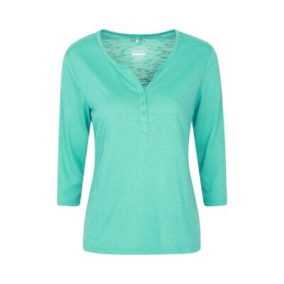 £12.99 • Buy Mountain Warehouse Paphos Ladies Top UV Protect Breathable ¾ Sleeve Button Top