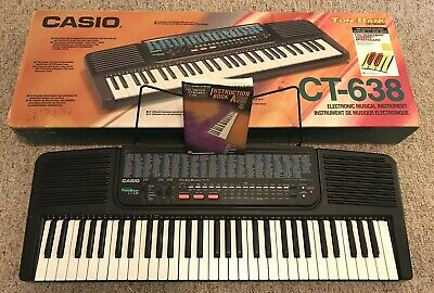 $89.99 • Buy Casio CT-638 Keyboard 465 Tone Bank 61 Keys With Instruction Learning Book & Box