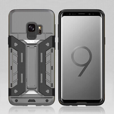 AU13.29 • Buy Protective Armour Hard Phone Case Cover With CARD HOLDER For Samsung S9 S9 Plus