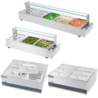 £125.95 • Buy Commercial 3/4/5/6 Pot Bain Marie Catering Wet Well Heat Electric Food Warmer UK