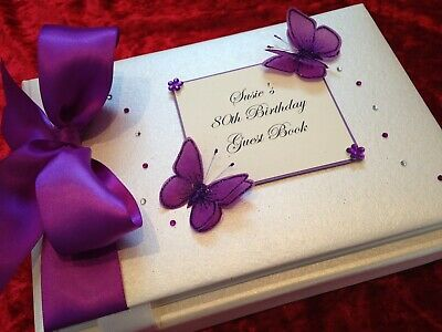 Personalised Birthday Guest Book/Photo Album 21st 30th 40th 50th 60th Boxed  • 22.95£