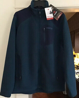 Marmot Wrangell Jacket Thermal Pro Polartec Fleece Denim/Indigo Mens L NWT • 149$
