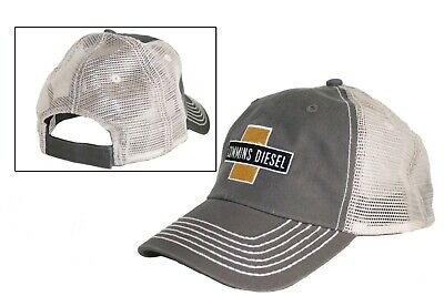 $18.95 • Buy Cummins Diesel Engines Gray Trucker Embroidered Patch Distressed Mesh Cap Hat