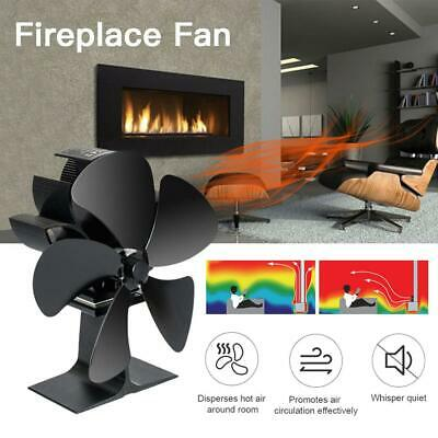 $53.59 • Buy 5/8 Blades Heater Stove Fan Heat Powered Blower For Fireplace Wood Log Burner