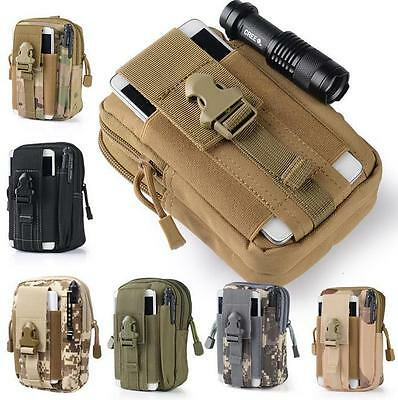 $4.57 • Buy Tactical Molle Pouch Handbags Belt Waist Backpack Military Fanny School Bag Pack