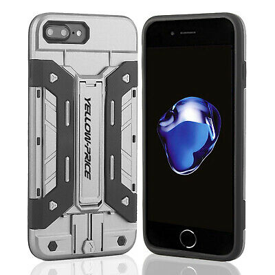 AU13.29 • Buy Protective Armour Hard Case Cover With CARD HOLDER & Kickstand For IPhone 6 7 8