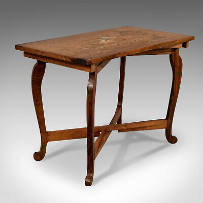 Vintage Side Table, Rosewood, Folding, Marquetry, Low, Mid 20th Century • 385£