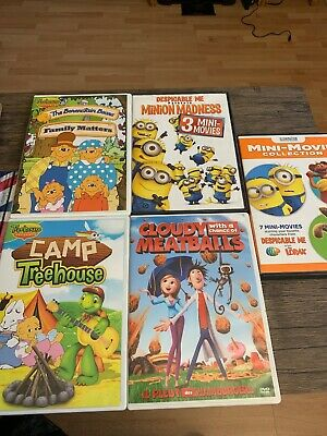 $ CDN20 • Buy Kids DVDs Assorted Lot Of 5 DVDS- Minions, Berenstain Bears, Treehouse.
