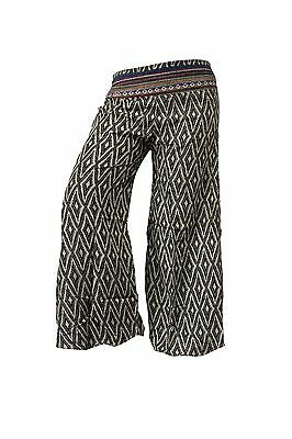 £29.99 • Buy Palazzo Wide Leg Flare Printed Trouser Colourful Hippy Bohemian