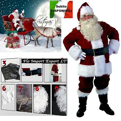 £129.94 • Buy Costume Outfit Santa Claus Deluxe Cosplay Santa Claus Christmas Suit SANTC03 S