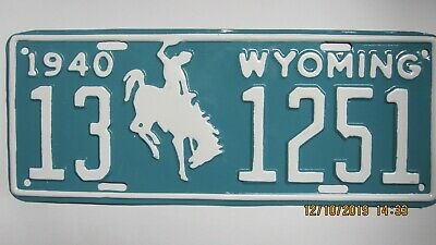 1940 Wyoming License Plate • 30$