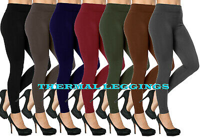 £4.89 • Buy Womens Thick Thermal Warm Leggings With Fleece Lining & Tummy Control Size 8- 14