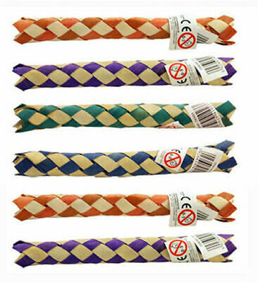 £2.99 • Buy 12 Bamboo Finger Traps 14cm - Pinata Toy Loot/Party Bag Fillers Childrens/Kids