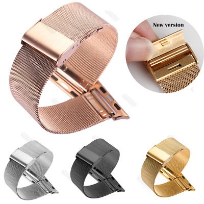 AU23.15 • Buy Milanese Stainless Steel New Buckle Strap For Apple Watch Iwatch Mesh Bands