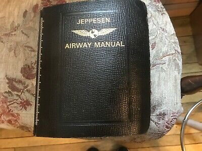 Vtg Jeppesen Airway Manual 1974 Cowhide 7-Ring Binder Maps Charts Southeast US  • 99.99$