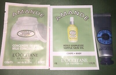 Chanel & L'Occitane & Kiel's Samples - Amande & Coco Mademoiselle Spray • 1.03$