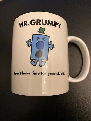 Official Mr Men Little Miss THOIP Merchandise Porcelain Mr Grumpy Tea Coffee Mug • 10.99£