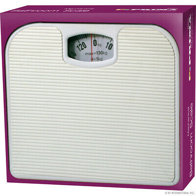 White Bathroom Scale Mechanical Weighing Scales  White • 11.99£