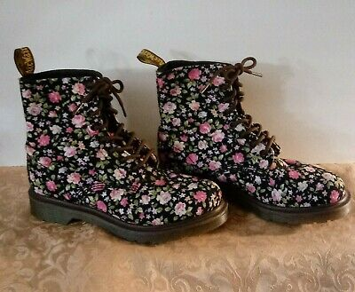 ⭐ RARE Doc Dr. Martens 'Page' Floral Leather Boots Womens Size 7 New Vtg • 164.95$
